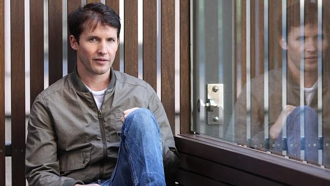 James Blunt rocketed to the top of the charts from nowhere after performing Bonfire Heart on the X Factor. Photo: Supplied