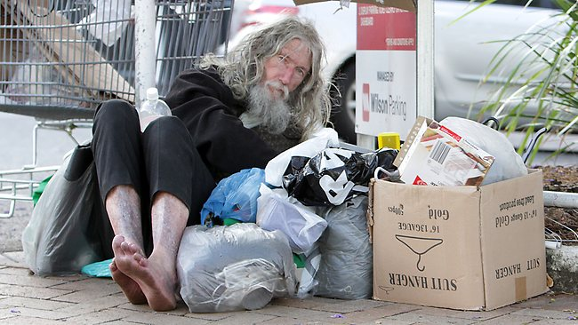 Ziggy the bagman Brisbanes most famous homeless person Ziggy the bagman back on