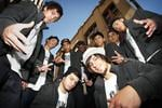 Dance troup 'Justice Crew' in the back streets of Surry Hills, Sydney. The troup are finalists in the 2010 season of the Channel Seven (7) TV program 'Australia's Got Talent'. Picture: Stephen Cooper