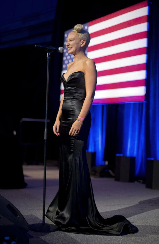Sia Furler performs for Barack Obama last month. Picture: AP Photo