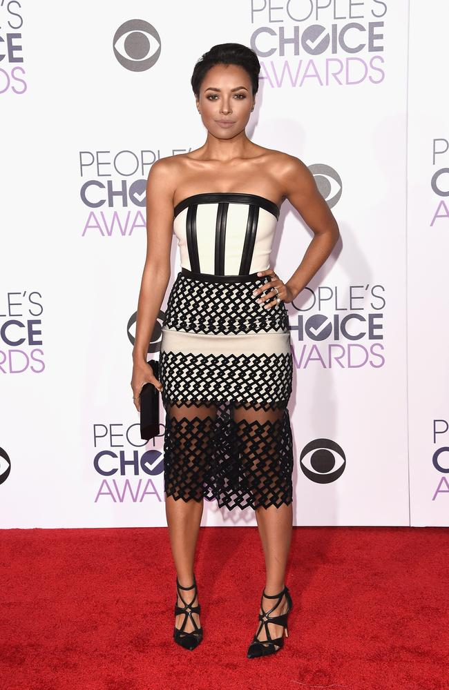 Actress Kat Graham attends the People's Choice Awards 2016. Picture: Jason Merritt/Getty Images/AFP