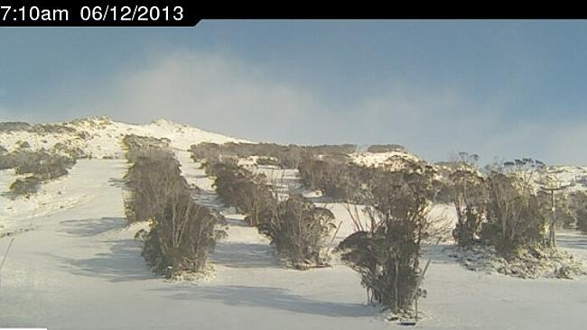Yes, that's the correct date. The upper slopes of Thredbo this morning (Friday)
