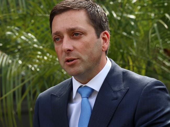 Victorian Opposition Leader Matthew Guy is promising a Victorian sex offender register if voted in. Picture: Alex Murray