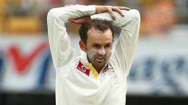 FEELING THE HEAT: Nathan Lyon.
