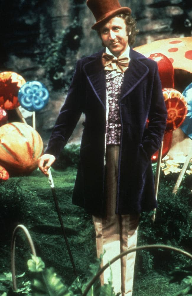The cane that plays such an important early part in establishing Wonka's character.