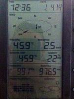 The temperature at Greenbank, as tweeted by monab141092.