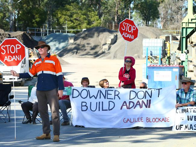 Locals protest the Adani coal mine. Photographer: Liam Kidston
