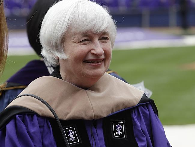 Second spot ... Federal Reserve Chair Janet Yellen, seen at a New York University graduation ceremony, is the second most powerful woman in the world, according to Forbes.