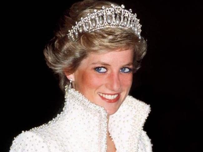 Princess Diana wears her favourite pearl and diamond tiara, since passed on to Duchess Catherine. Picture: Getty