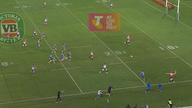 The Eels were not allowed a quick tap after the ball boy passed the ball.