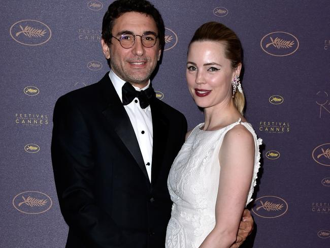 Jean-David Blanc and Melissa George pictured together at the Cannes Film Festival last year. Picture: pascal Le Segretain/Getty Images