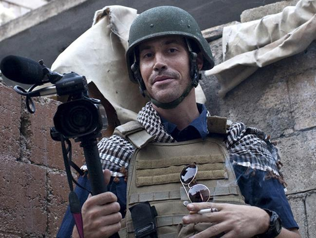 Beheaded ... American journalist James Foley while covering the civil war in Aleppo, Syria.