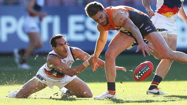 Adelaide forward Eddie Betts kicked five goals in the win over GWS. Picture: Phil Hillyard