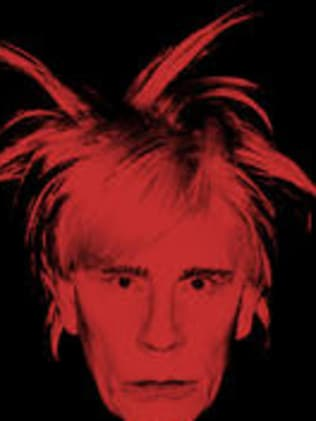 Andy Warhol's Self Portrait Fright Wig taken in 1986 and again in 2014. Picture: Courtesy of Sandro Miller