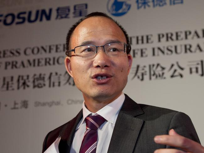 Guo Guangchang, the billionaire chairman of chairman of Fosun International Ltd vanished for several days in December. Picture: Kevin Lee/Bloomberg