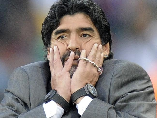 Diego Maradona was always flamboyant during his tenure as Argentina's manager.