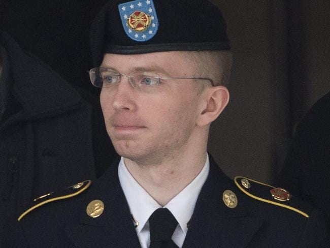 Traitor or hero? ... Private First Class Bradley Manning. Picture: Saul Loeb