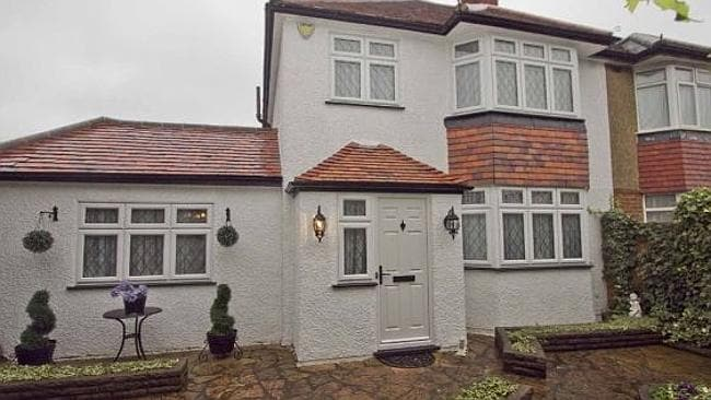 Looks can deceive: The plain exterior gives no clue of the more extravagant decor inside. Rightmove.
