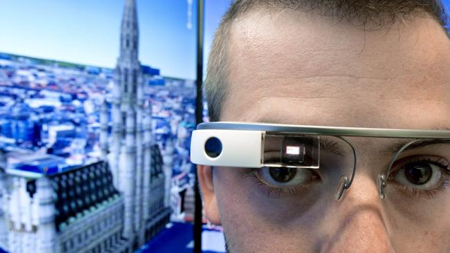 Google Glass is a wearable computer with an optical head-mounted display that displays information in a smartphone-like hands-free format.