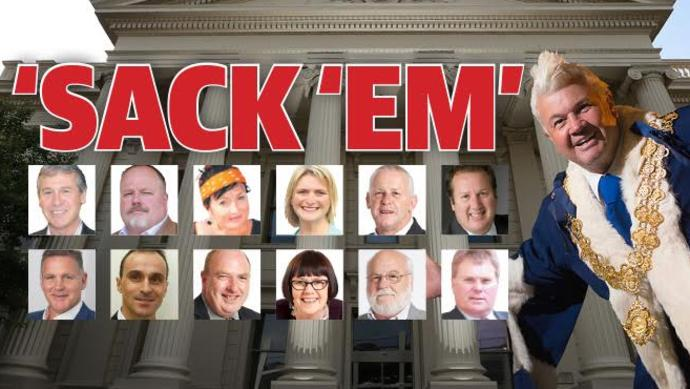 The state government is introducing legislation to sack the entire