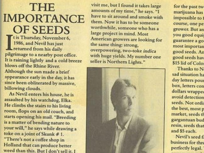 An in-depth profile of Schoenmakers appeared in the March 1986 edition of  <i>High Times</i>.