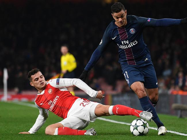 Arsenal's Swiss midfielder Granit Xhaka is expected to come into midfield with news of Santi Cazorla's injury.