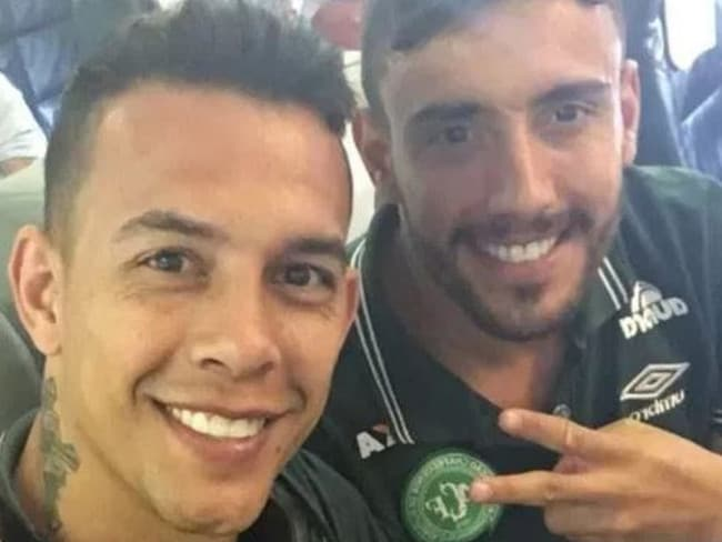 Alan Ruschel Snapchatted this image with Danilo Padilha before takeoff.