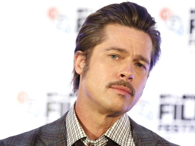 Male grooming ... men want to look like Brad Pitt, 50, but he has facial treatments like skin needling, not Botox. Picture: Getty Images