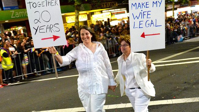 The PM has been criticised for not allowing a free vote in Parliament on gay marriage. Picture: AFP