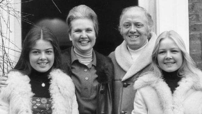 Richard Attenborough with wife Sheila and daughters Charlotte (l) and Jane (r) at their Richmond home in England in 1976.