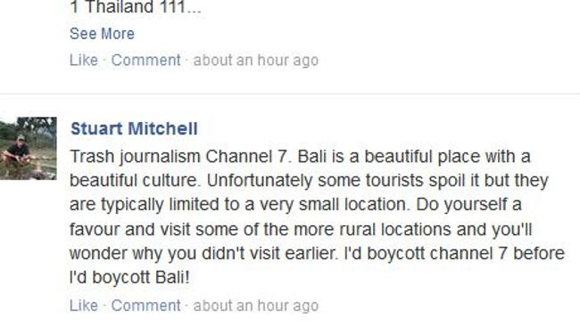 Ridiculed ... Stuart Mitchell did not hold back on What Really Happens in Bali. Picture: Facebook