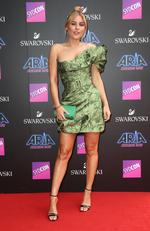 Carissa Walford pictured arriving at the 2017 ARIA Awards held at The Star in Pyrmont in Sydney. Picture: Richard Dobson