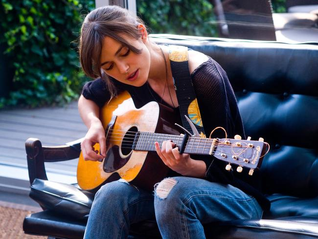 Keira Knightley shows off her musical talents in  <i>Begin Again</i>. Picture: Supplied