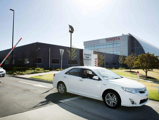 Toyota's Headquarters on Bertie Street in Port Melbourne will remain. Picture: Eugene Hyland