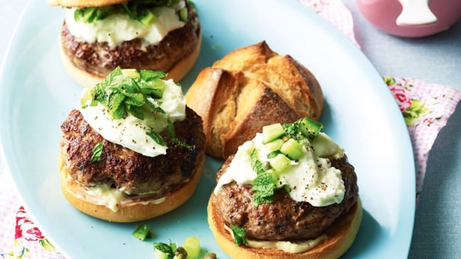 recipe of the day  lamb burgers with buffalo mozzarella