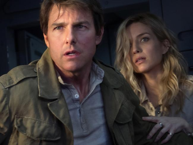 Annabelle Wallis and Tom Cruise in a scene from The Mummy. Photo: Universal Pictures.