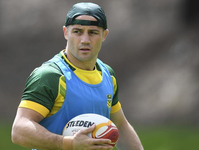 Cooper Cronk during Kangaroos training.