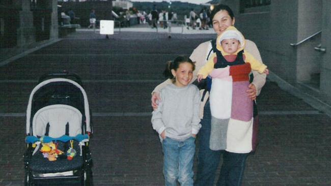 Once happy ... a young Sofia with her mother Natalia and younger sister Maria, during happier times. Picture: Facebook