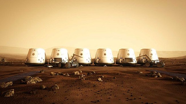 An artist's rendition of your potential living quarters on Mars. Can you hack it? Picture: Mars One