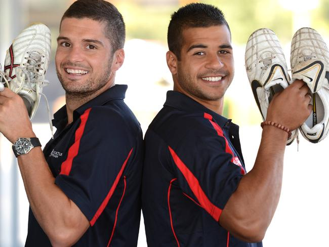 AFL Multicultural Ambassadors Lee Montagna and Ahmed Saad.