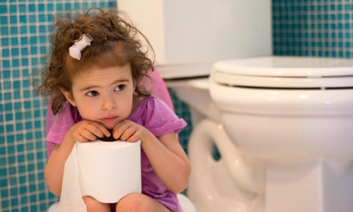 The traditional potty training technique