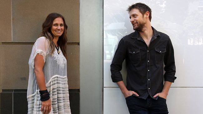 Kasey Chambers and Shane Nicholson. Picture: Toby Zerna