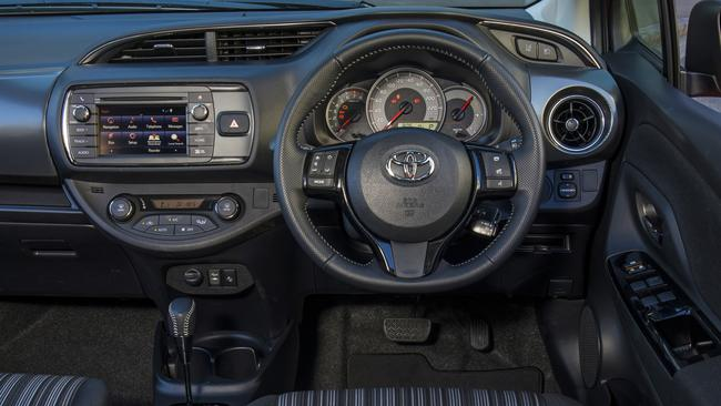 The Toyota Yaris ZR lacks Apple Car Play, a digital speedo and push-button start but is the cheapest to run. Photo: Supplied.