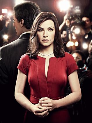 Censored... Julianna Margulies and Chris Noth in  <i>The Good Wife</i>.