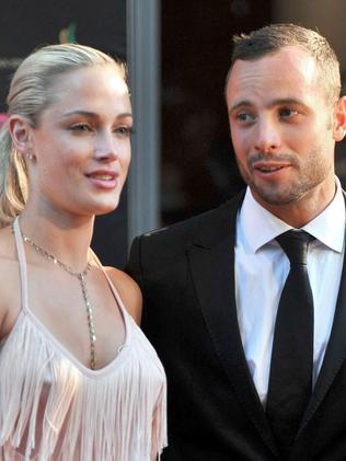 Pistorius with his girlfriend Steenkamp back in 2012 who he was convicted of shooting.