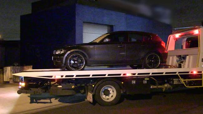 Victoria Police seize a vehicle in relation to a Coburg hit-run. Source: Victoria Police.