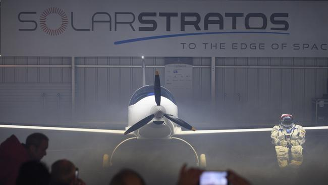 The main goal of the SolarStratos Mission project is to be the first solar flight ever made to perform in 2018, with a climb to more than 75,000 feet, a stratospheric flight. Picture: Laurent Gillieron