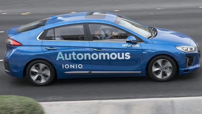 Hyundai's autonomous test-bed in action. Pic: Supplied.