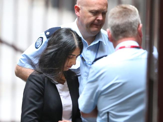 Sofia Sam arrives at the Supreme Court. Picture: David Crosling