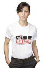 Actor Brooke Satchwell, who has been named an ambassador for the Make Poverty History 2008 Stand Up Against Poverty campaign.